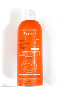 Avene Ultra-Light Hydrating Sunscreen Spray 50+ A spray cream that's water resistant and light.