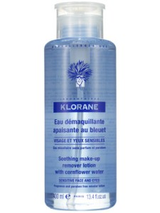 Klorane Makeup Remover Water Cleanest, quickest swipe takes off everything. Pump top is genius.